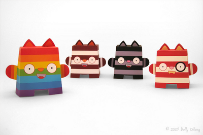 The Paper Cats: Sunnie, Ziggy, Tommie, and Bang Bang!